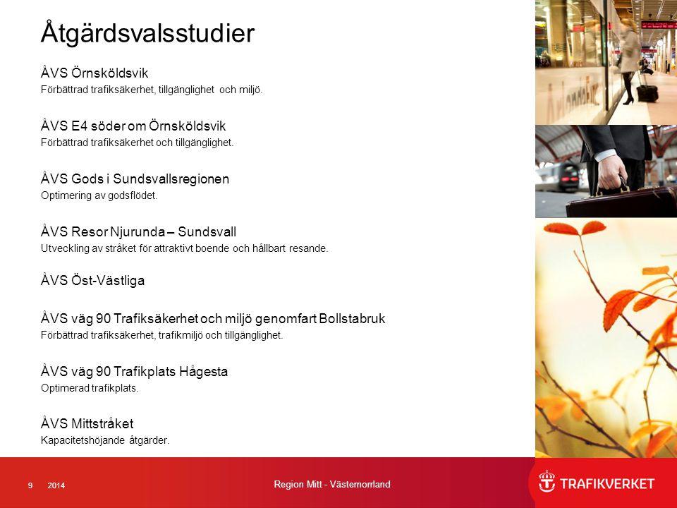 Åtgärdsvalsstudier ÅVS Örnsköldsvik ÅVS E4 söder om Örnsköldsvik