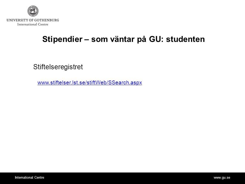 Stipendier – som väntar på GU: studenten