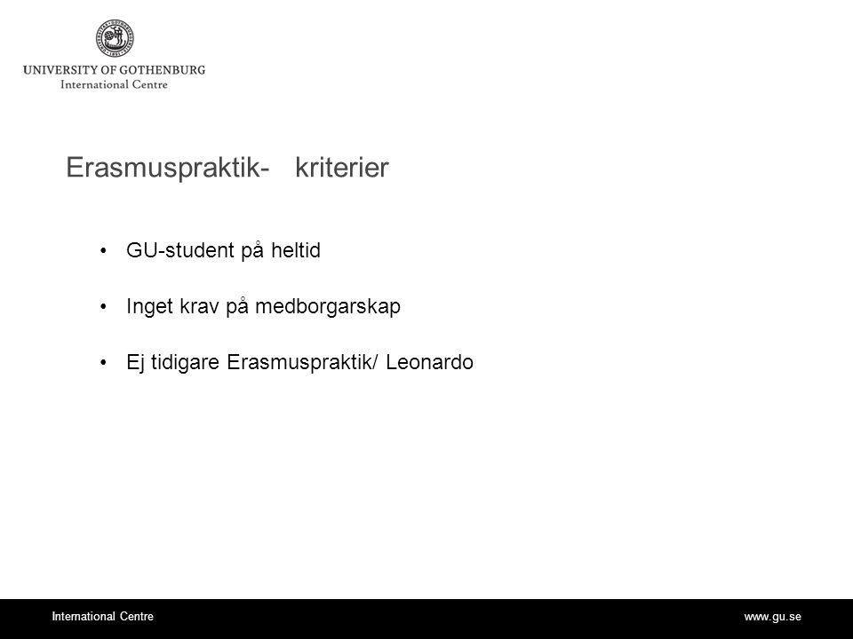 Erasmuspraktik- kriterier