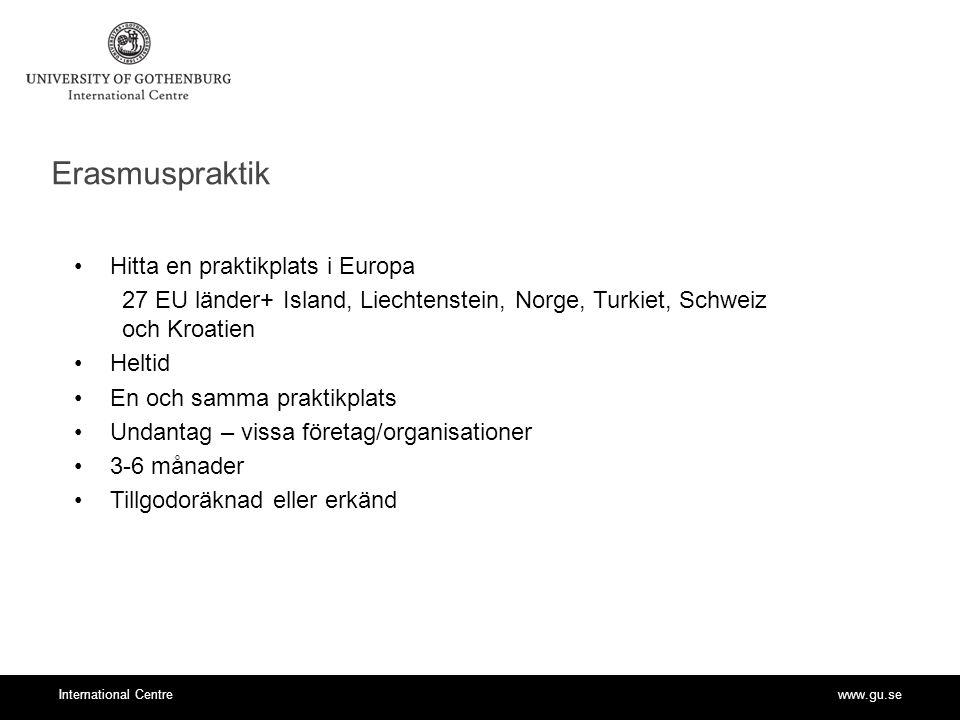 Erasmuspraktik Hitta en praktikplats i Europa
