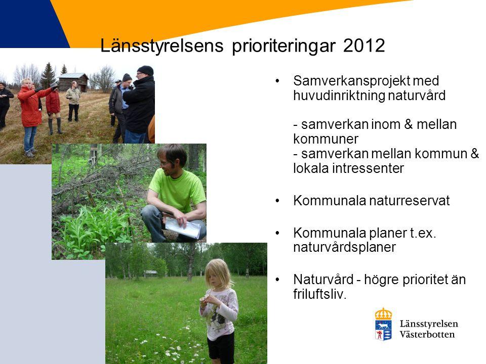 Länsstyrelsens prioriteringar 2012