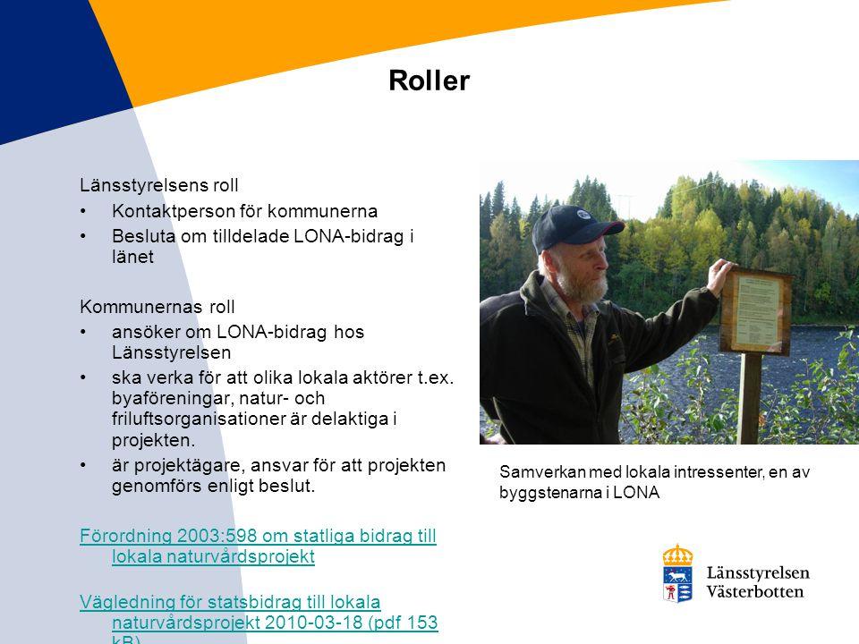 Roller Länsstyrelsens roll Kontaktperson för kommunerna