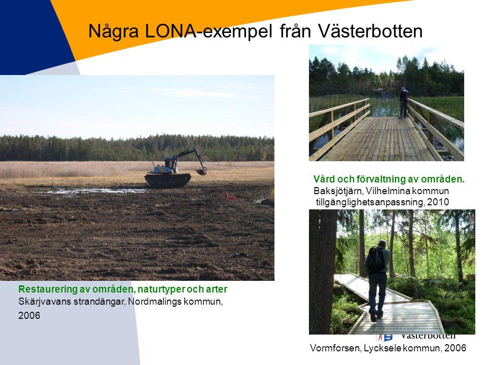 Några LONA-exempel från Västerbotten