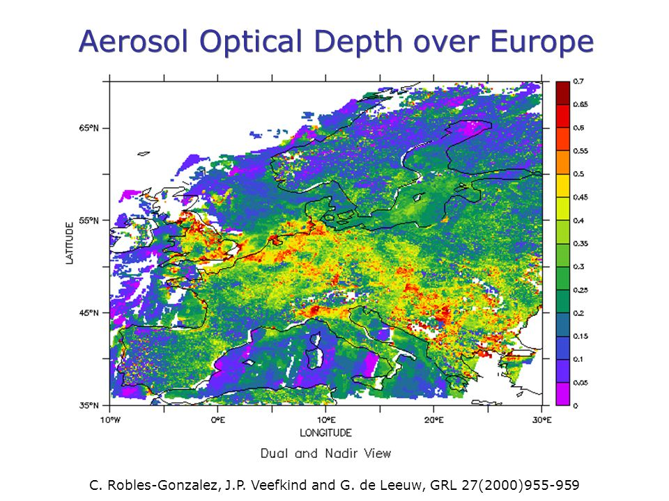 Aerosol Optical Depth over Europe