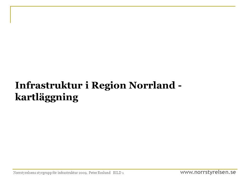 Infrastruktur i Region Norrland - kartläggning