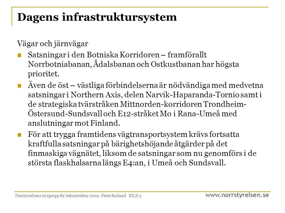 Dagens infrastruktursystem