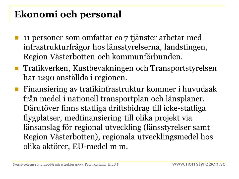 Ekonomi och personal
