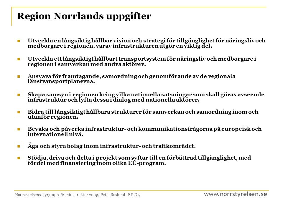 Region Norrlands uppgifter