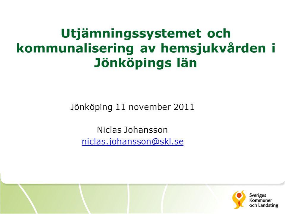 Utjämningssystemet och kommunalisering av hemsjukvården i Jönköpings län