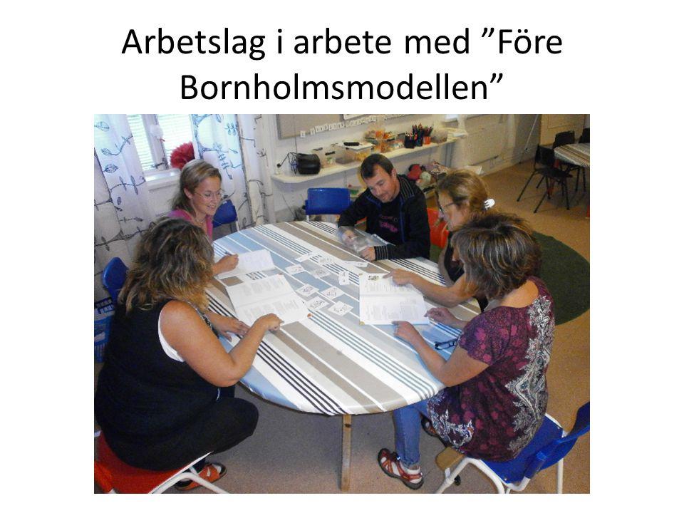 Arbetslag i arbete med Före Bornholmsmodellen