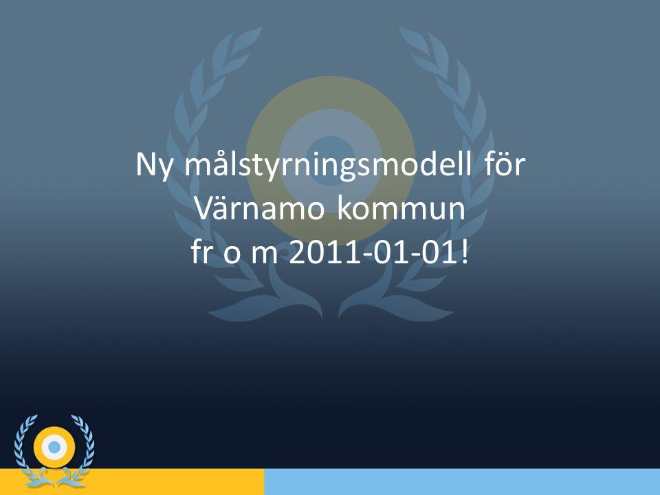 Ny målstyrningsmodell för Värnamo kommun fr o m 2011-01-01!