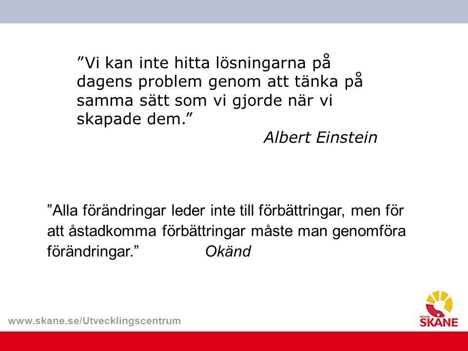 Vi kan inte hitta lösningarna på dagens problem genom att tänka på samma sätt som vi gjorde när vi skapade dem. Albert Einstein
