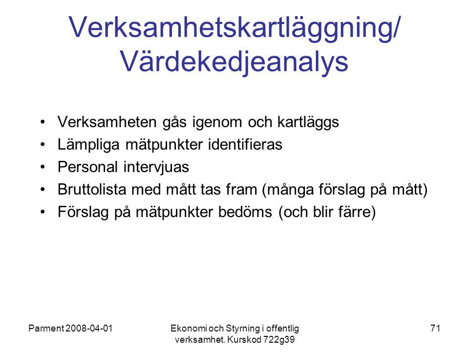 Verksamhetskartläggning/ Värdekedjeanalys