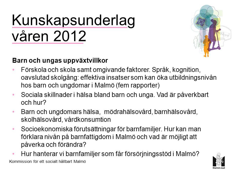 Kunskapsunderlag våren 2012