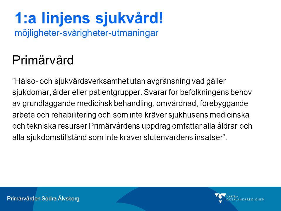 1:a linjens sjukvård! möjligheter-svårigheter-utmaningar