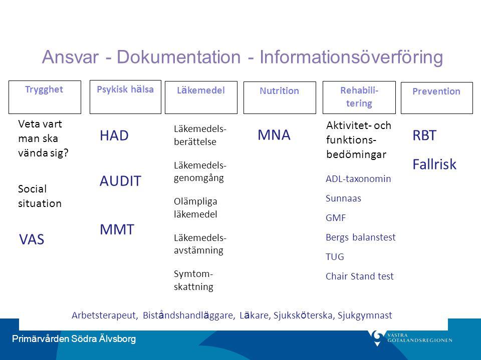 Ansvar - Dokumentation - Informationsöverföring