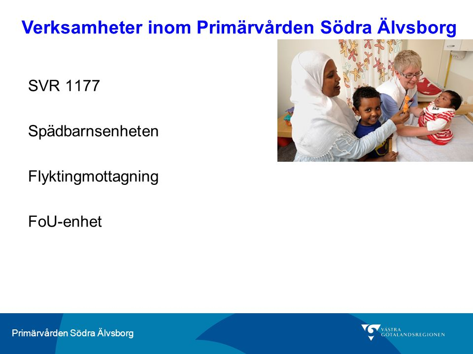 Verksamheter inom Primärvården Södra Älvsborg