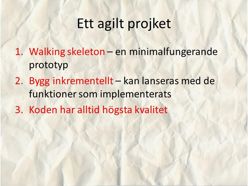 Ett agilt projket Walking skeleton – en minimalfungerande prototyp