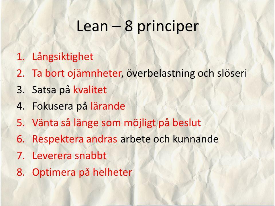 Lean – 8 principer Långsiktighet