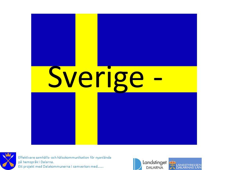 Sverige - Ditt nya hemland och dess flagga (Här berättar kommunikatören ) Effektivare samhälls- och hälsokommunikation för nyanlända.