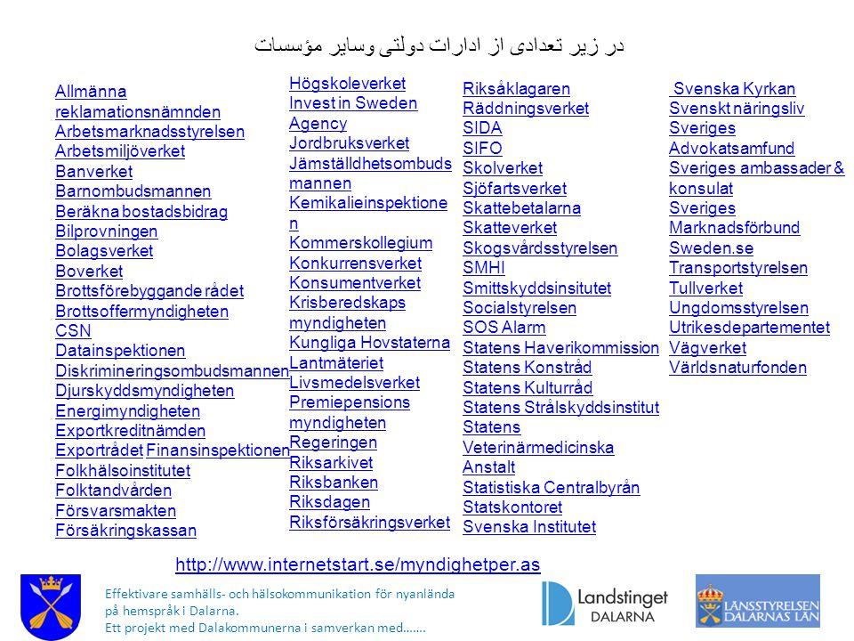 در زیر تعدادی از ادارات دولتی وسایر مؤسسات