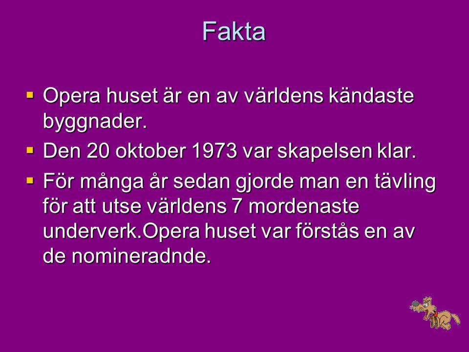 Fakta Opera huset är en av världens kändaste byggnader.