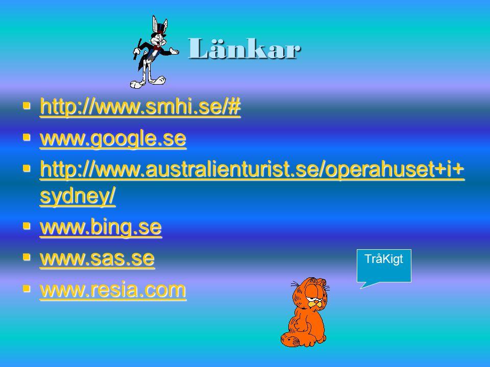 Länkar http://www.smhi.se/# www.google.se