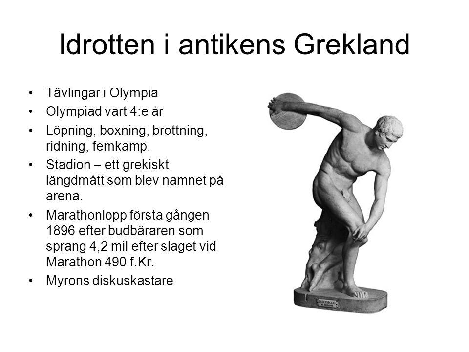 Idrotten i antikens Grekland