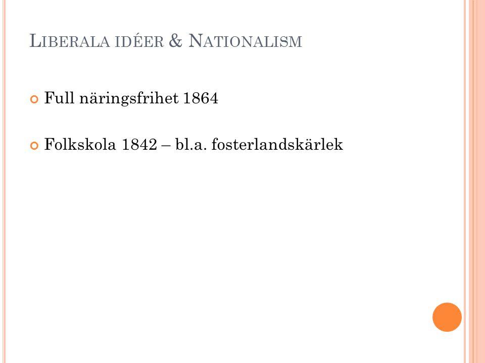 Liberala idéer & Nationalism