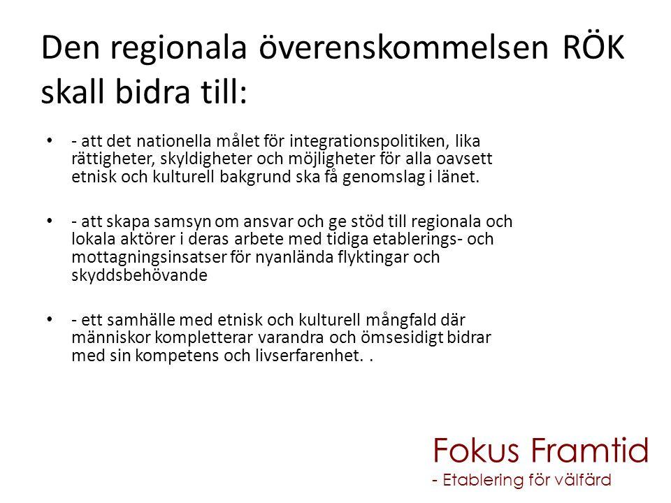Den regionala överenskommelsen RÖK skall bidra till: