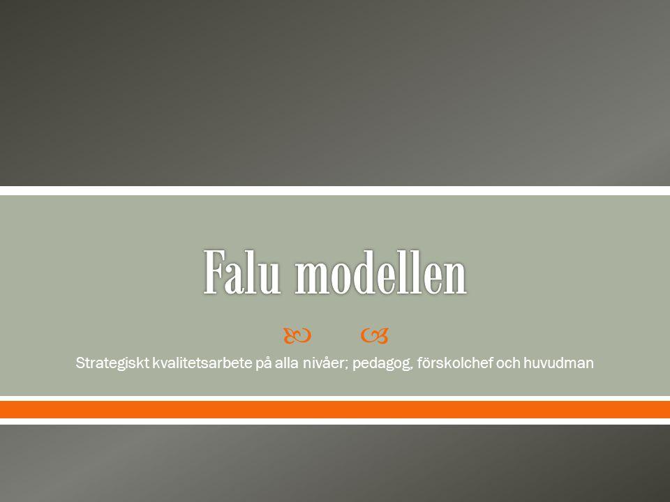 Falu modellen Strategiskt kvalitetsarbete på alla nivåer; pedagog, förskolchef och huvudman