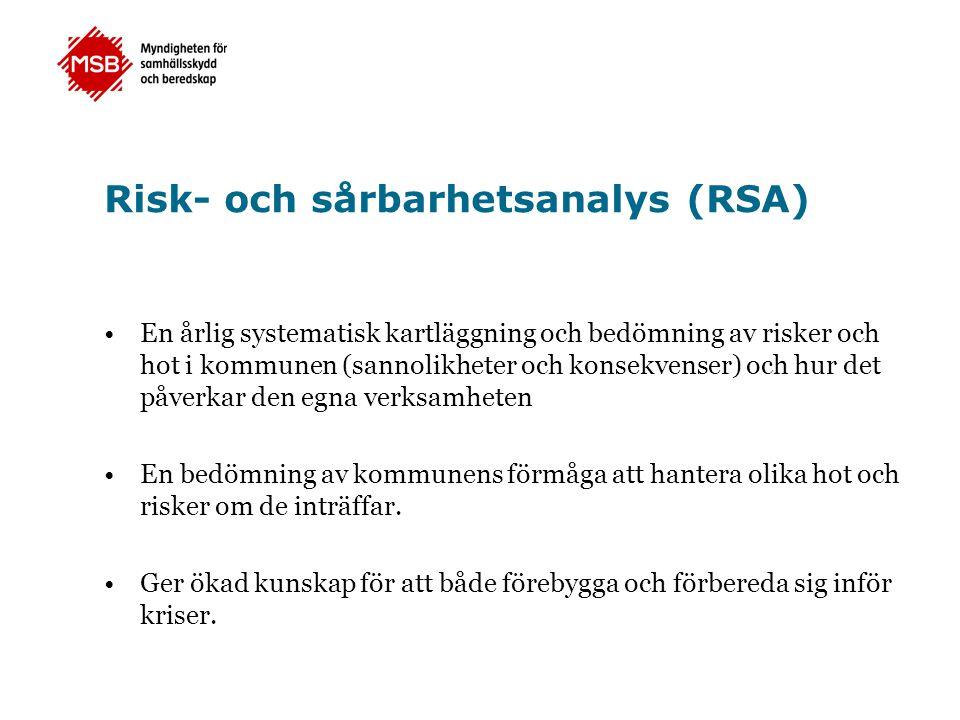 Risk- och sårbarhetsanalys (RSA)