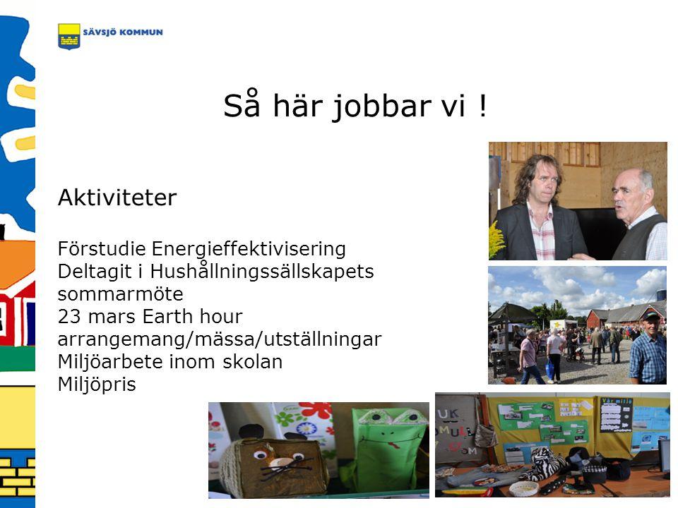 Så här jobbar vi ! Aktiviteter Förstudie Energieffektivisering