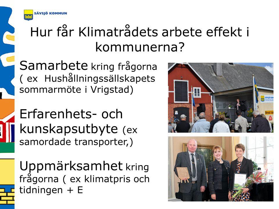 Hur får Klimatrådets arbete effekt i kommunerna