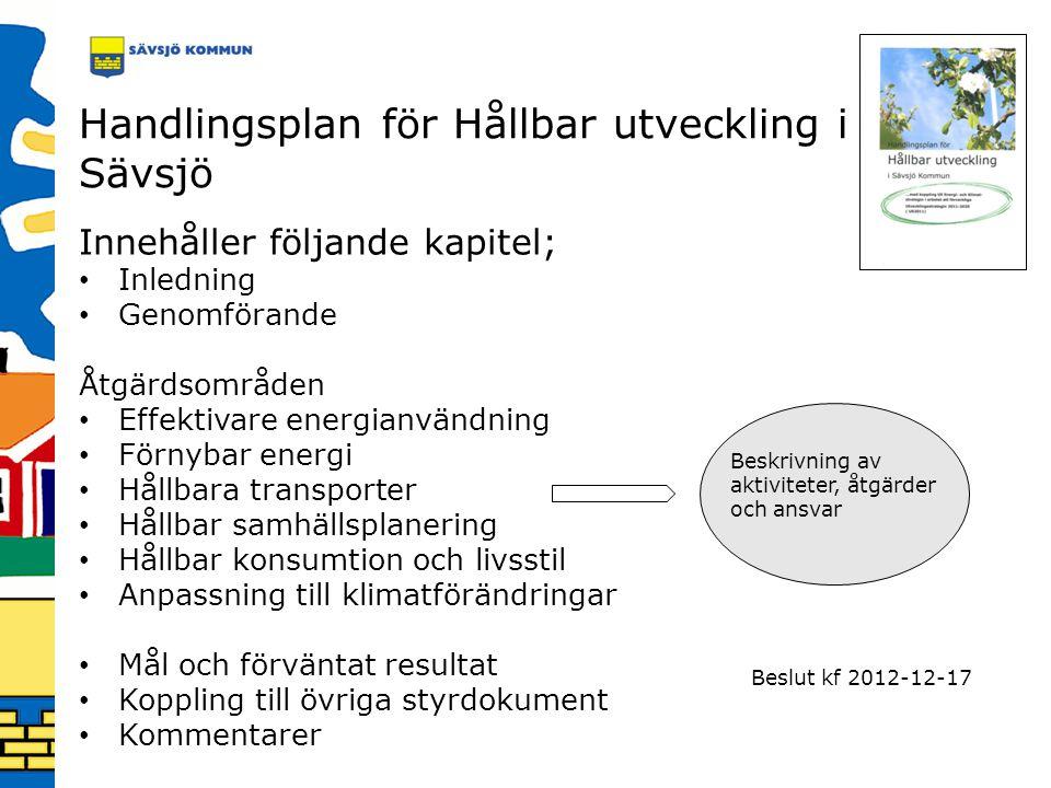Handlingsplan för Hållbar utveckling i Sävsjö