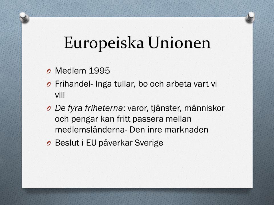 Europeiska Unionen Medlem 1995