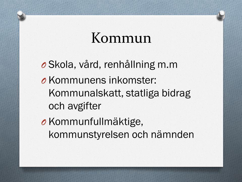 Kommun Skola, vård, renhållning m.m