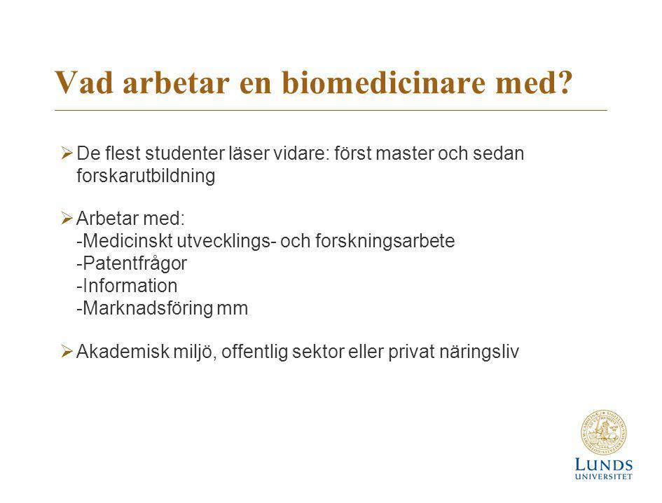 Vad arbetar en biomedicinare med