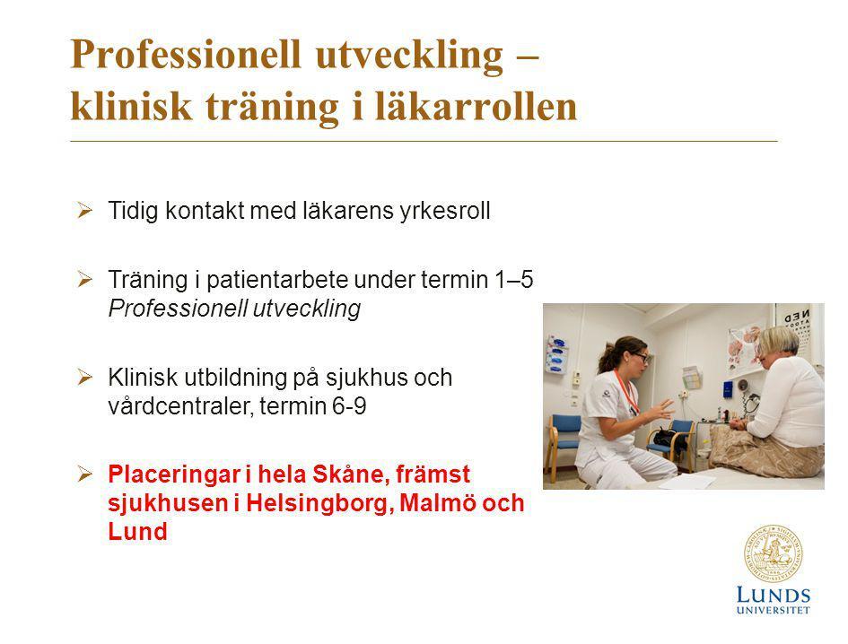 Professionell utveckling – klinisk träning i läkarrollen