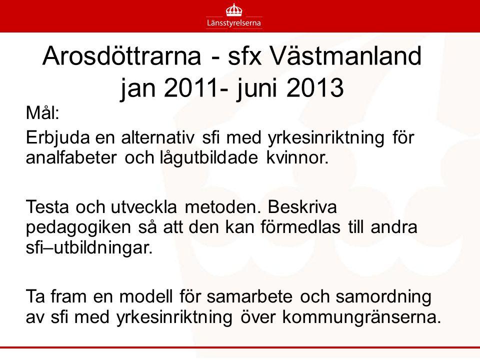Arosdöttrarna - sfx Västmanland jan 2011- juni 2013