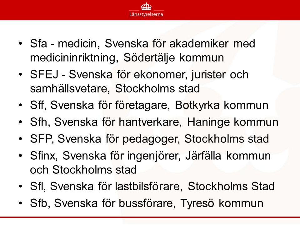 Sfa - medicin, Svenska för akademiker med medicininriktning, Södertälje kommun