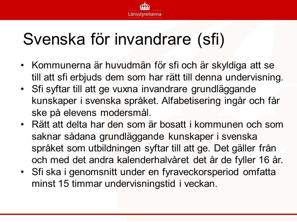 Svenska för invandrare (sfi)