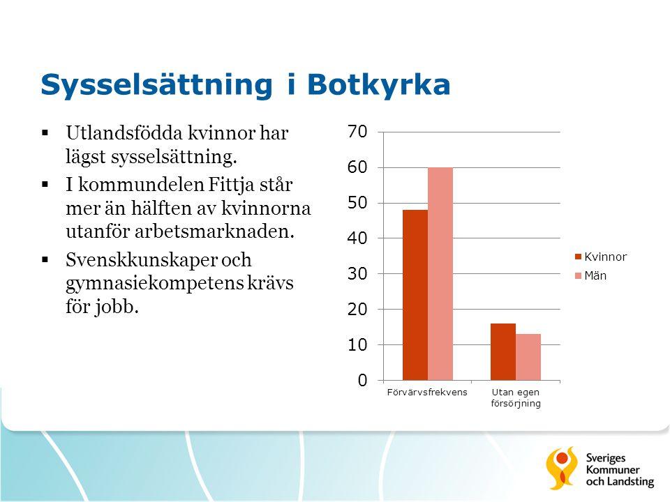 Sysselsättning i Botkyrka