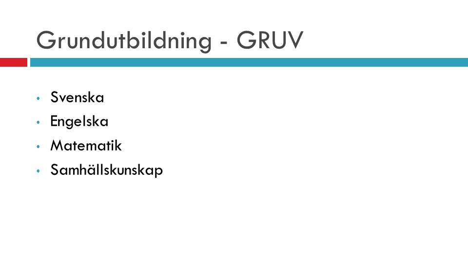 Grundutbildning - GRUV