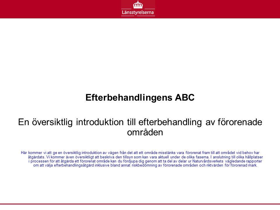 Efterbehandlingens ABC