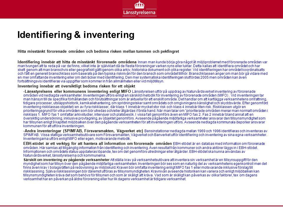 Identifiering & inventering