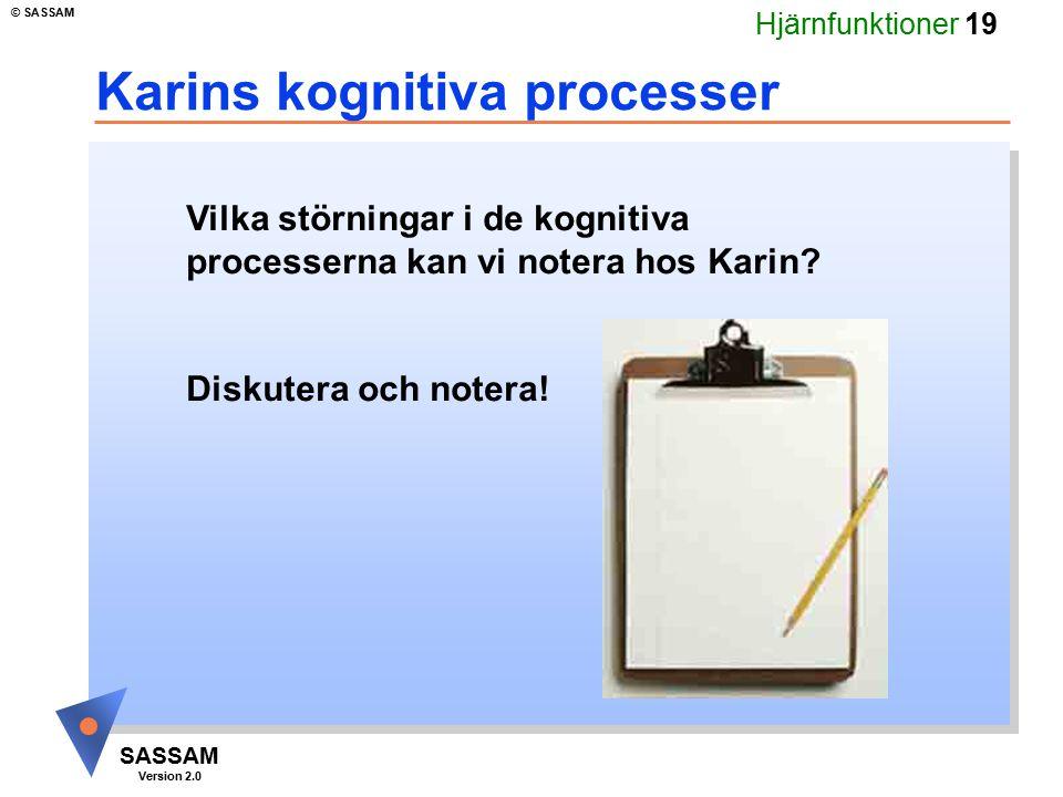 Karins kognitiva processer