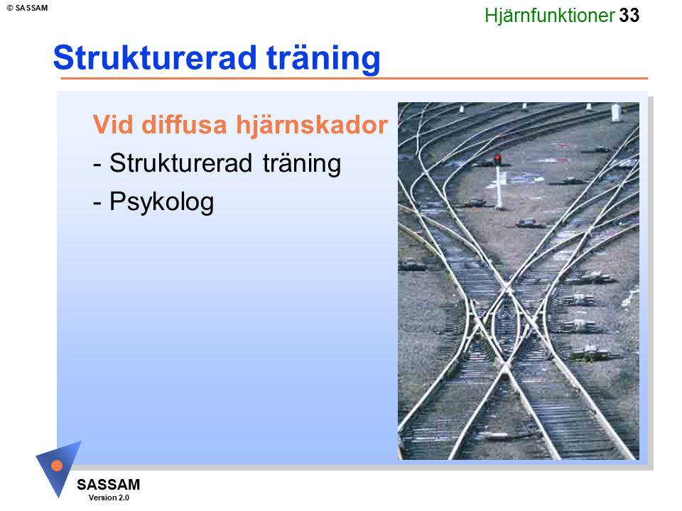 Strukturerad träning Vid diffusa hjärnskador - Strukturerad träning