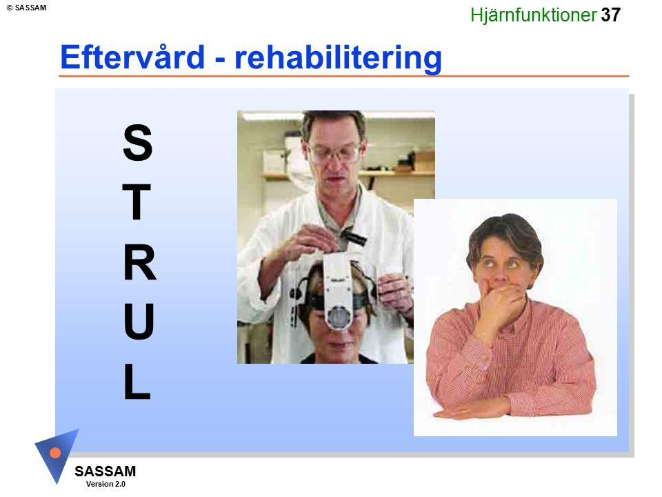 Eftervård - rehabilitering