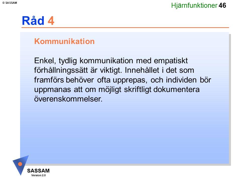 Råd 4 Kommunikation.